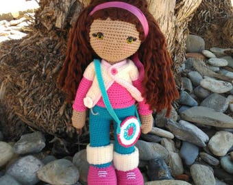 Amigurumi doll, Amigurumi, personalized doll, crochet doll with long hair