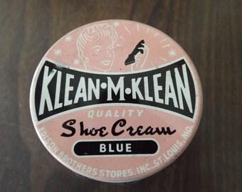 Vintage, Apothecary Bottle, Klean M Klean Shoe Cream, Antique Glass Bottle, French Cottage , Pharmacy Bottles, Textured Bottles, Glass Jar