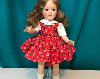 "Ideal Toni Doll P90 14"" Vintage Doll Dressed in Handmade Clothing"