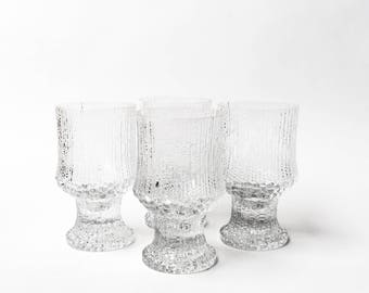 Vintage iittala Ultima Thule Wine Glasses, Set of 4, Tapio Wirkkala