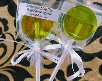 12 Moroccan Mint Tea Lollipops