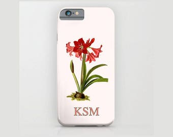 Custom Device case, iPhone 5/5s, iPhone 6/ 6s, iPhone 7/ 7s, Samsung, Galaxy, Phone, Amaryllis , Botanical, Custom, Nature, Gift, Christmas