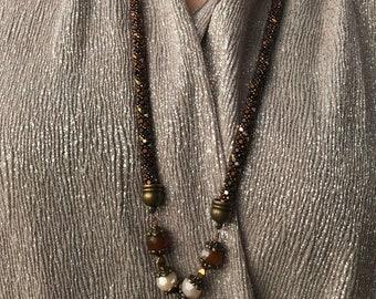 Russian Spiral Quartz Necklace