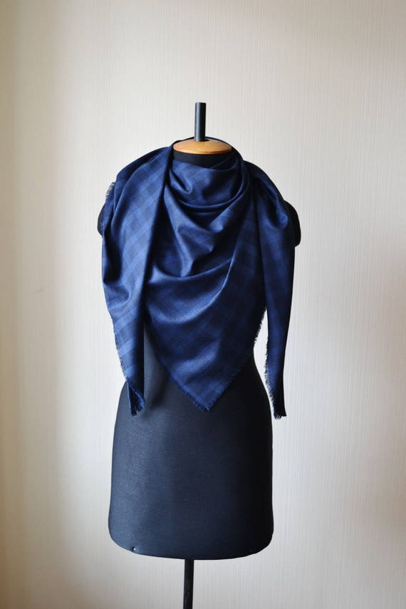 Easter giftformom wool blanket scarf plaid navy blue blanket like this item negle Gallery