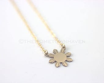 Philippines Sun Necklace - Philippines star necklace, Philippines necklace