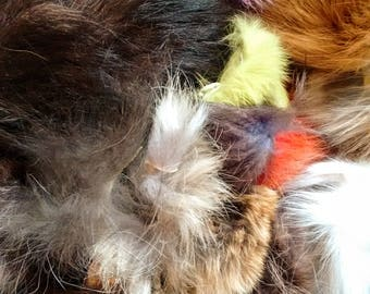 1 Quart Bag of Mixed Fur Scraps, great for crafts!
