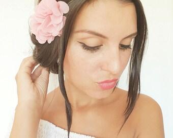 Headband mariage champ tre couronne de fleurs noires - Headband mariage boheme ...