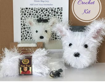 Amigurumi Kit - Crocket Starter Kit - Crochet Kit - Crochet Pattern Dog - Crochet Gifts - Crochet Dog Pattern - Dog Crochet Pattern - Westie