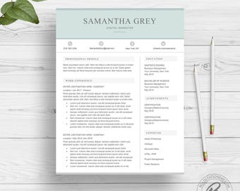 Creative Resume Template for Word | Professional Resume Design | 2 Page Resume Download | Modern Resume Template | CV Template for Word