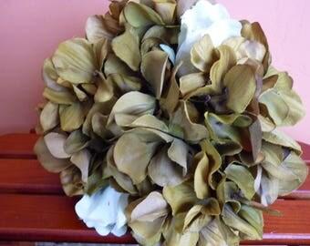 Hydrangea bouquet. Green bouquet. Green hydrangea bouquet. Bridal bouquet. Wedding bouquet.
