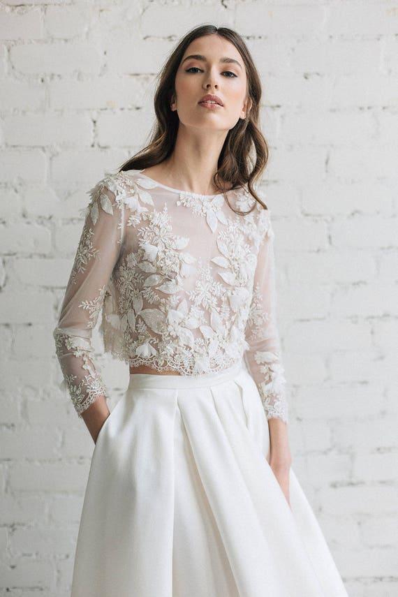 Gold Top Wedding Dress
