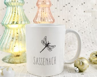 Outlander Sassenach Coffee Mug | Claire Randall Fraser | Jamie Fraser | TV Show | Gift for Best friend | Dragonfly in Amber | Gift for her