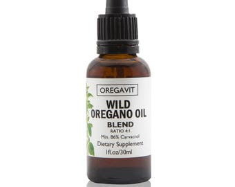 Wild Oil of Oregano BLEND Ready to Use Must-have For Digestive  Immune Support & Respiratory Health Extra Strength min 86% of Carvacrol