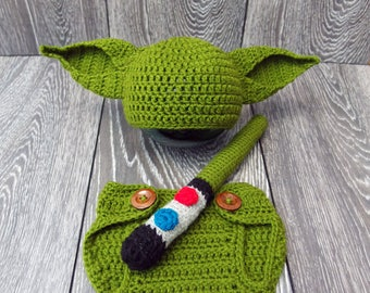 Yoda baby costume, Star Wars inspired costume, Star Wars Baby, Yoda Baby Hat, Star Wars Outfit Star Wars photography props, Baby photo props