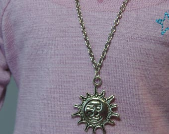 Silver Sun Necklace for American Girl Doll Luciana Vega GOTY 2018 and other 18 inch dolls