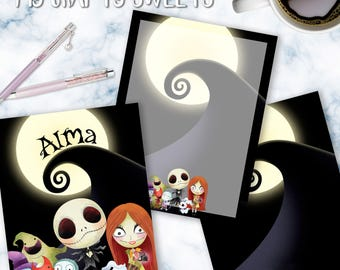 Nightmare Before Christmas Planner Cover
