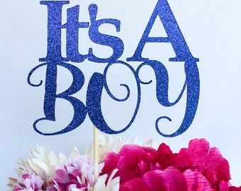 Its a boy cake topper | Baby shower cake topper | Baby boy cake topper | Gender reveal cake topper | Glitter cake topper | Baby shower decor