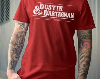 Stranger Things Dungeons & Dragons Parody Shirt | PREMIUM QUALITY | Dustin | Dart | White or Red | Fantasy Tee | Geek clothing | T-shirt