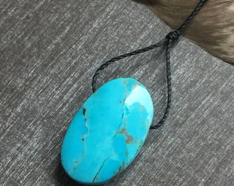 Campitos Turquoise Pendant - Turquoise Focal Beads - Turquoise Pendant Bead - Pendant B
