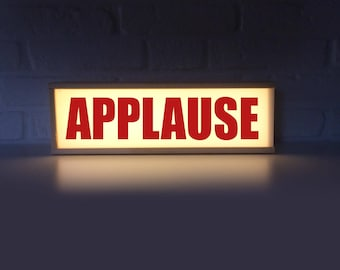 Applause sign - applause lightbox - applause light box - broadcast sign - light sign recoring lightbox - on air - lighted sign applause