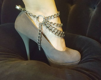 BDSM cuffs, Bondage Cuffs, Ankle cuffs with Heart lock, Bondage set, Restraints, Sex Toys, Ankle chains, Shoe Bondage, High heels cuffs