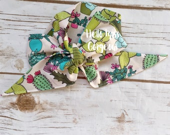 CACTUS FLORAL Gorgeous Wrap- headwrap; fabric head wrap; head wrap; boho; newborn headband; baby headband; toddler bow