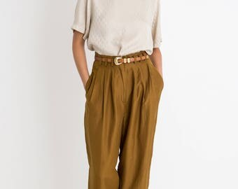 90s Silky Shiny Pleated Trousers