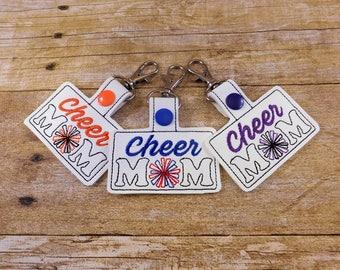 Cheer Mom Keychain - Cheer MomKey Fob - Cheerleader Mom - Cheer Mom Gift - Gift under 10 - Cheerleader Gift - Cheerleader - Cheer - Keyfob