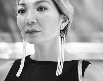 Improvised Traditional Mongolian Earring