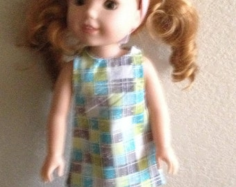 "Dress made to fit 14 1/2"" dolls such as Wellie Wisher"