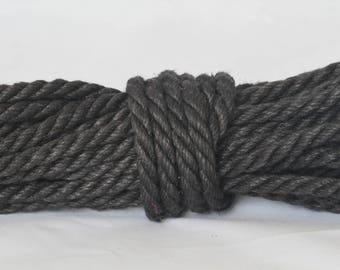 Black Hemp Bondage Rope Shibari Rope
