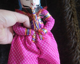 Rajasthani Puppet/Doll (couple/pink)