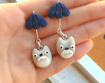 My Neighbor Totoro Umbrella Pair of earrings Studio Ghibli
