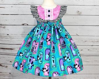 Girls Vampirina Dress- Toddler Girls Vampirina Dress- Vampirina Birthday Dress- Vampirina Tunic Top- Shorts- Size 2t, 3t, 4t, 5, 6, 7, 8