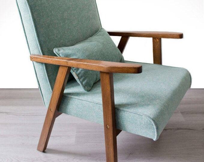 Jonna Blue Mid Century Upcycled Armchair