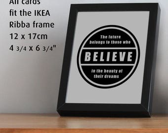 The future belongs to those who believe in the beauty of their dreams. Card, A4 / Letter size to download. Print and fold. Easy!