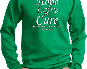 Men's Hope Love Cure Support Carcinoid Cancer Awareness Sweat Shirt HLC-SCCA-PC90