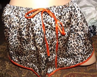 SALE Vintage Leopard Cheetah Print Tap Pants Panties XL