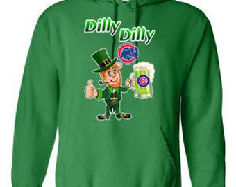 Chicago Cubs Hoodie, Cubs Sweatshirt, Cubs Irish Shirt, Dilly Dilly Cubs