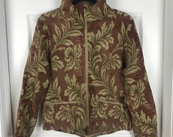 Brown and green cold air design jacket