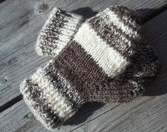 Hand Spun Navajo Churro/Babydoll Southdown Lined Mittens-Toddler sized