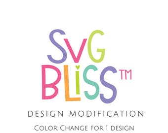 SVG Modification, Color Change of One Existing Design, Customize SVG