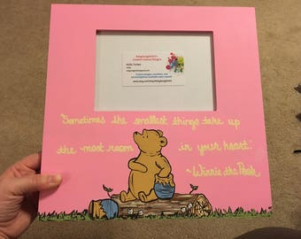 Winnie the Pooh Piglet Picture Frame | Multiple Quote Options | Best Friend | Sister | Mother Daughter | Father Daughter | Nursery Decor