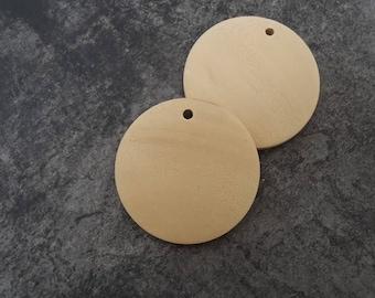 Wooden pendant, creole, ethnic pendant, 3 cm