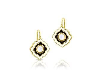 Scallop Enamel Earrings