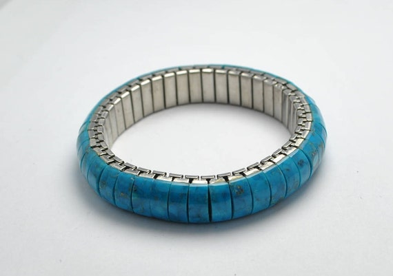 Natural turquoise extensible bracelet