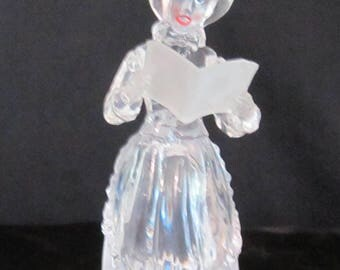 Christmas Caroler Glass Figurine    (#738)