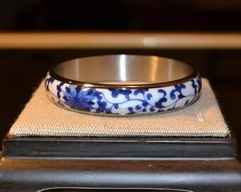 50% Sale Blue and White China Bracelet China Bracelet Chinese Bracelet Circle Bracelet Porcelain Bracelet Classic Ceramic Bracelet blue