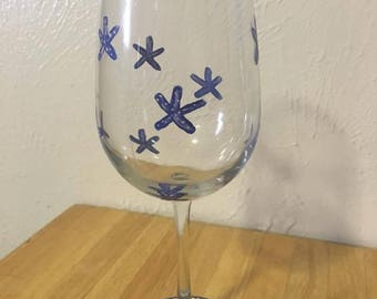 Beach Starfish Wine Glasses