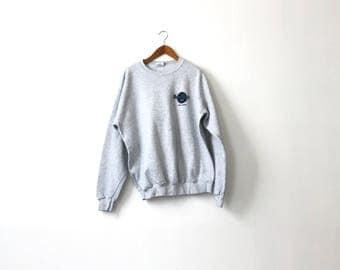 90s Gray Hard Rock Cafe Sweatshirt - XL